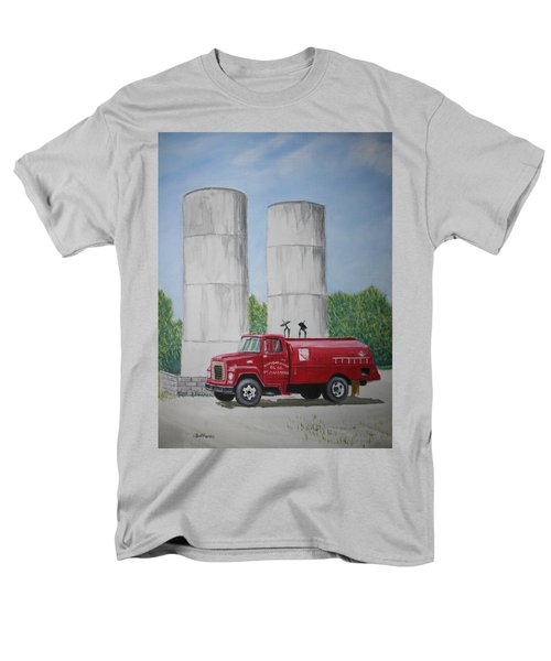 Men's T-Shirt  (Regular Fit) featuring the painting Oil Truck by Stacy C Bottoms