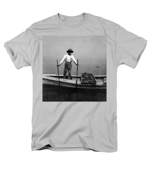 Oyster Fishing On The Chesapeake Bay - Maryland - C 1905 Men's T-Shirt  (Regular Fit) by International  Images