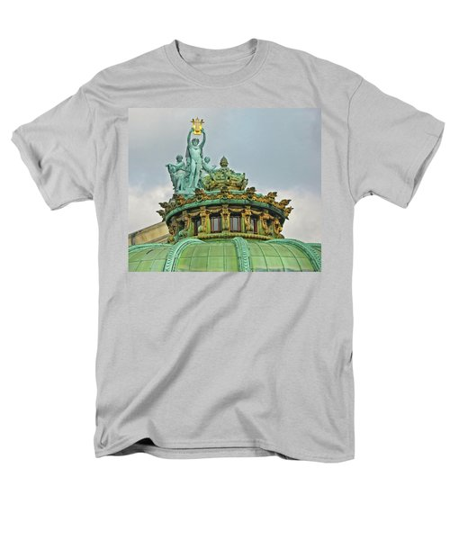 Men's T-Shirt  (Regular Fit) featuring the photograph Paris Opera House Roof by Dave Mills