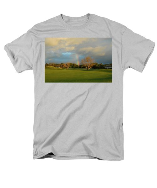 Men's T-Shirt  (Regular Fit) featuring the photograph Rainbow Over Princeville by Lynn Bauer
