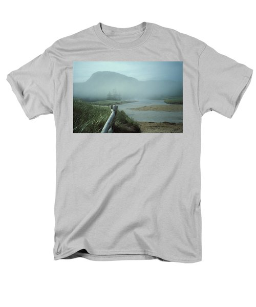 Sand Beach Fog Men's T-Shirt  (Regular Fit) by Brent L Ander