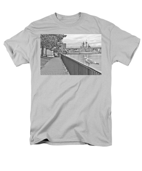 Men's T-Shirt  (Regular Fit) featuring the photograph Seagull At The Naval And Military Park by Michael Frank Jr