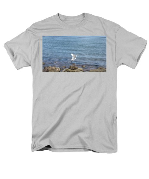 Men's T-Shirt  (Regular Fit) featuring the photograph Snowy Egret by Marilyn Wilson