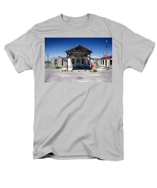 Men's T-Shirt  (Regular Fit) featuring the photograph Somewhere On The Old Pecos Highway Number 4 by Lon Casler Bixby