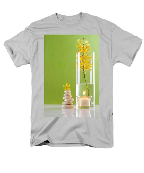 Spa Concepts With Green Background Men's T-Shirt  (Regular Fit) by Atiketta Sangasaeng