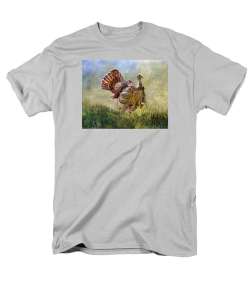 Men's T-Shirt  (Regular Fit) featuring the digital art Wild Turkey by Mary Almond