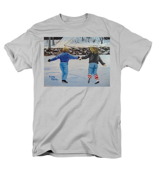 Men's T-Shirt  (Regular Fit) featuring the painting Winter Fun by Norm Starks