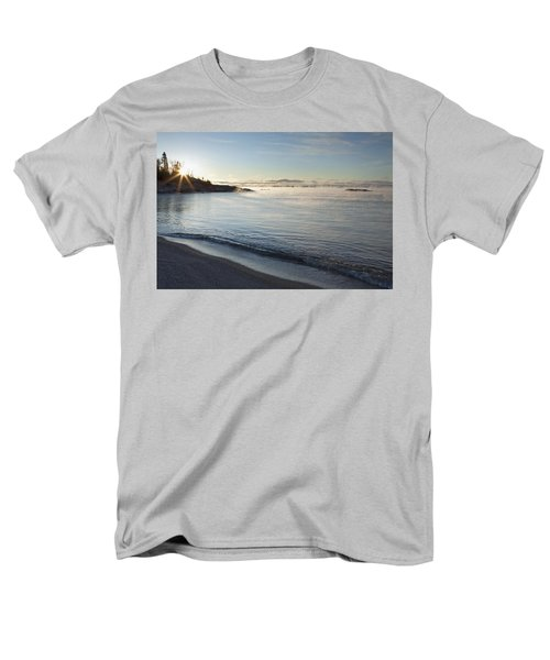 Winter Mist On Lake Superior At Sunrise Men's T-Shirt  (Regular Fit) by Susan Dykstra
