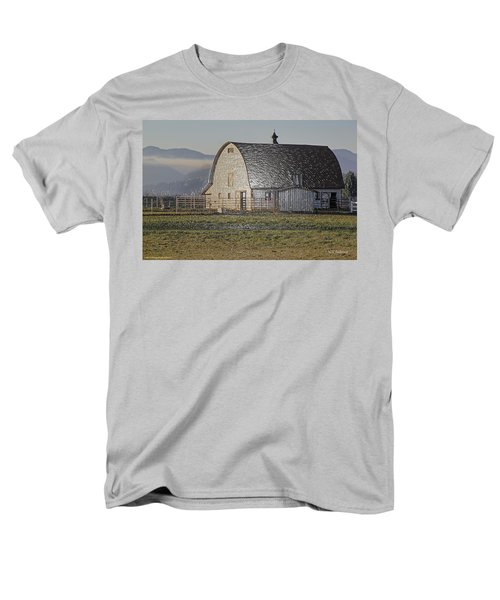 Men's T-Shirt  (Regular Fit) featuring the photograph Wrapped Barn by Mick Anderson