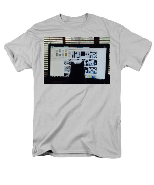 Men's T-Shirt  (Regular Fit) featuring the photograph  Critic Cat by Erika Chamberlin