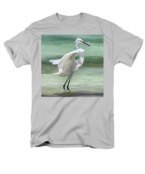 A Snowy Egret (egretta Thula) At Mahoe Men's T-Shirt  (Regular Fit) by John Edwards
