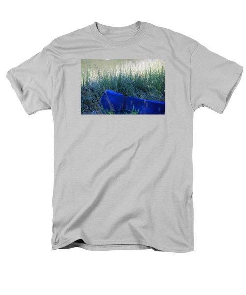 Blue Men's T-Shirt  (Regular Fit)