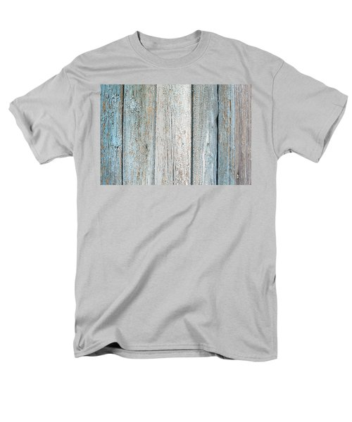 Men's T-Shirt  (Regular Fit) featuring the photograph Blue Fading Paint On Wood by John Williams