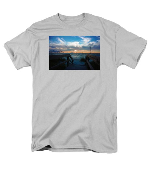 Boardwalk At Delnor-wiggins Pass State Park Men's T-Shirt  (Regular Fit) by Robb Stan