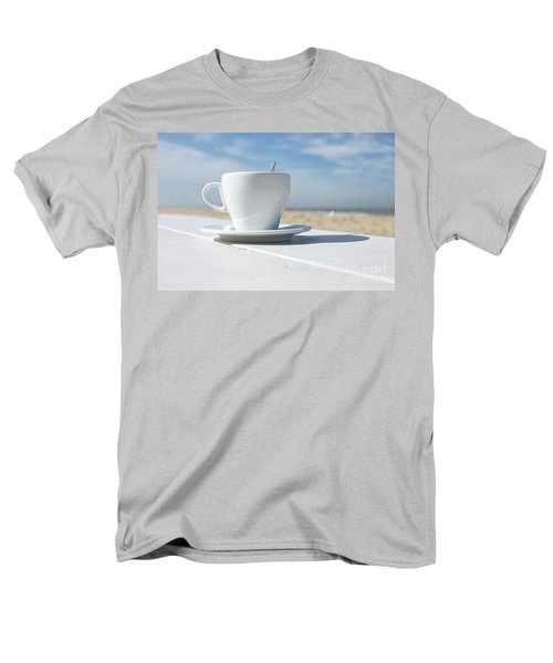 Men's T-Shirt  (Regular Fit) featuring the photograph Coffee On The Beach by Patricia Hofmeester