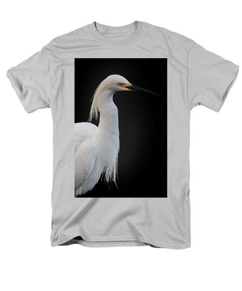 Egret Men's T-Shirt  (Regular Fit) by Cyndy Doty