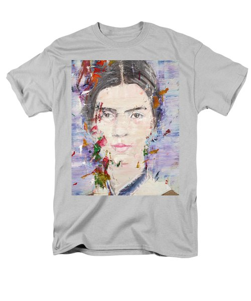 Men's T-Shirt  (Regular Fit) featuring the painting Emily Dickinson - Oil Portrait by Fabrizio Cassetta