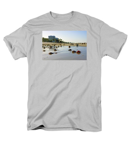 Fighting Conchs On The Beach In Naples, Fl Men's T-Shirt  (Regular Fit) by Robb Stan