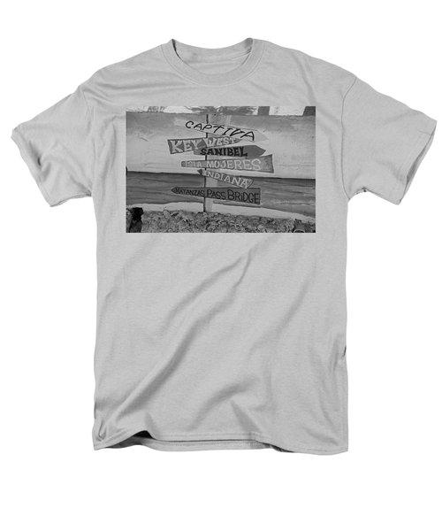 Fort Myers Beach Mural Men's T-Shirt  (Regular Fit) by Michiale Schneider