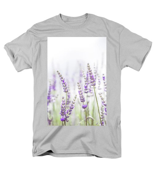Lavender Flower In The Garden,park,backyard,meadow Blossom In Th Men's T-Shirt  (Regular Fit) by Jingjits Photography