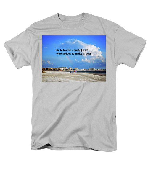 Men's T-Shirt  (Regular Fit) featuring the photograph Love Of Country by Gary Wonning