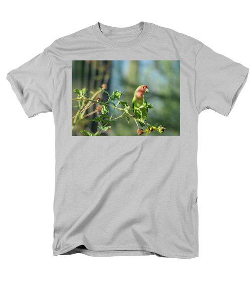 Lovely Little Lovebird  Men's T-Shirt  (Regular Fit) by Saija Lehtonen