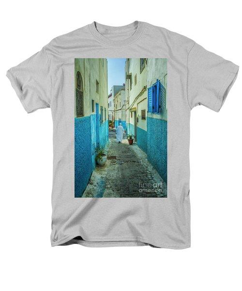Man In White Djellaba Walking In Medina Of Rabat Men's T-Shirt  (Regular Fit) by Patricia Hofmeester