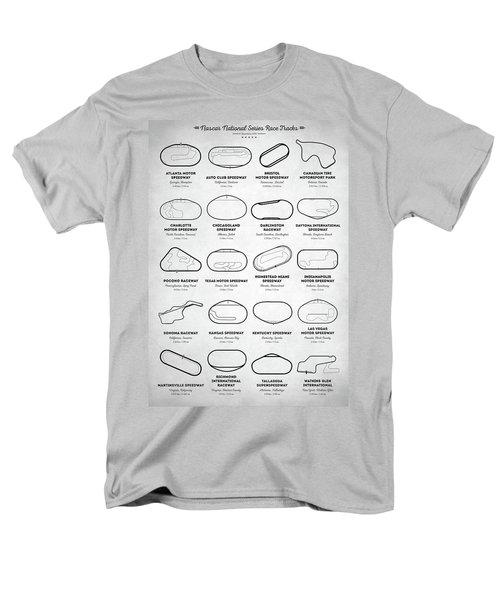 Men's T-Shirt  (Regular Fit) featuring the digital art Nascar Racetracks by Taylan Apukovska