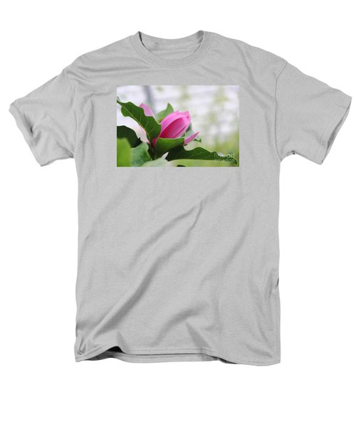 Men's T-Shirt  (Regular Fit) featuring the photograph Pink Magnolia  by Yumi Johnson