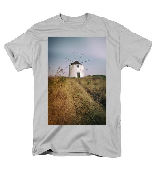 Men's T-Shirt  (Regular Fit) featuring the photograph Portuguese Windmill by Carlos Caetano