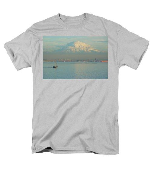 Puget Sound Men's T-Shirt  (Regular Fit) by Angi Parks