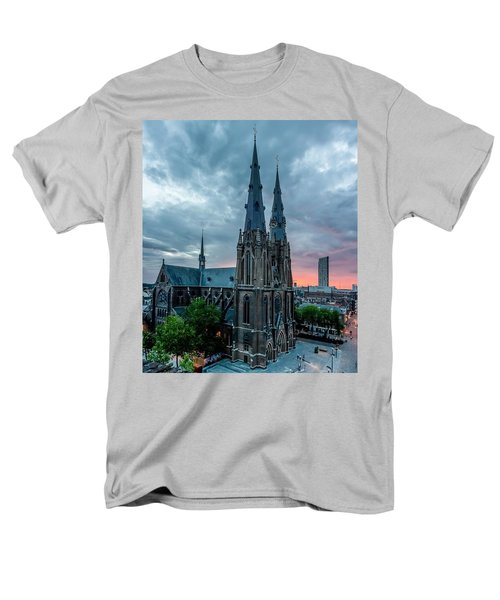 Saint Catherina Church In Eindhoven Men's T-Shirt  (Regular Fit) by Semmick Photo
