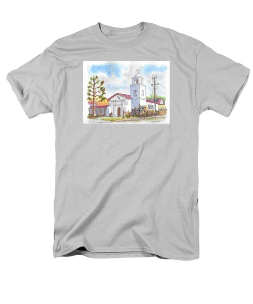 Santa Cruz Mission, Santa Cruz, California Men's T-Shirt  (Regular Fit) by Carlos G Groppa