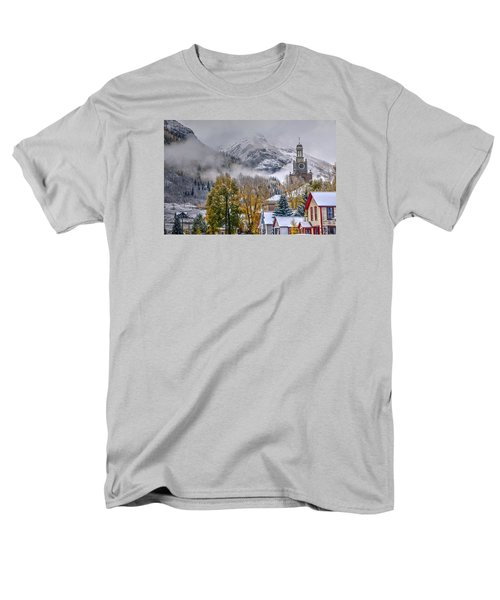 Silverton Colorado Men's T-Shirt  (Regular Fit) by Charlotte Schafer