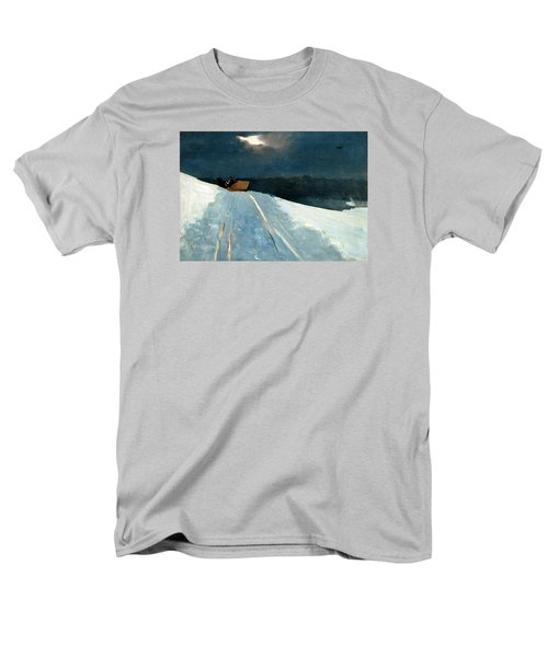 Men's T-Shirt  (Regular Fit) featuring the painting Sleigh Ride by Winslow Homer