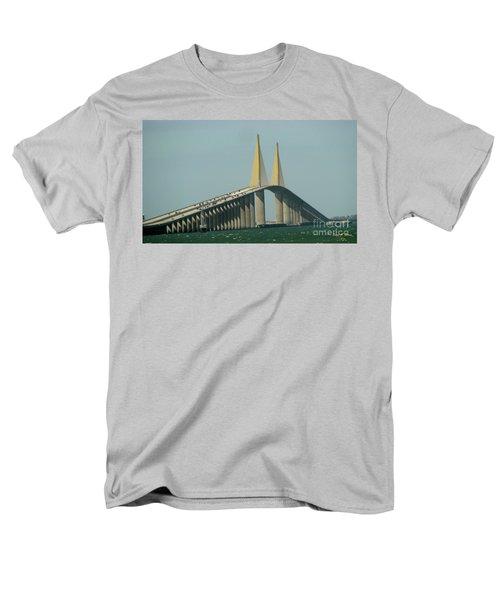 Sunshine Skyway Bridge Men's T-Shirt  (Regular Fit) by Donna Brown
