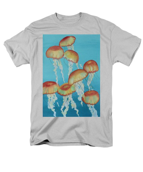 Men's T-Shirt  (Regular Fit) featuring the painting Upwardly Mobile by Judy Mercer
