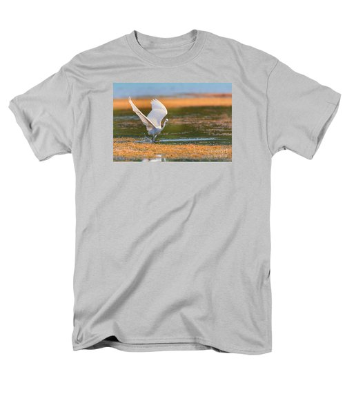 Men's T-Shirt  (Regular Fit) featuring the photograph Wading by Jivko Nakev