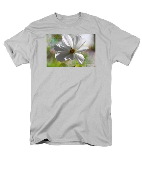 Men's T-Shirt  (Regular Fit) featuring the photograph White Cosmos by Yumi Johnson