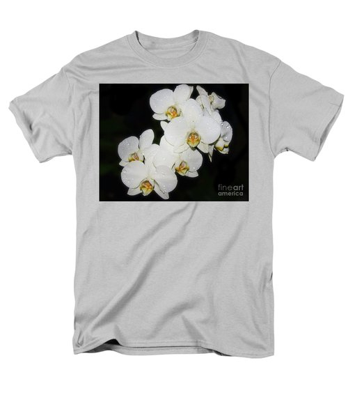 Men's T-Shirt  (Regular Fit) featuring the photograph White Orchid by Elvira Ladocki
