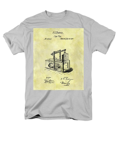 Men's T-Shirt  (Regular Fit) featuring the mixed media 1870 Mousetrap Patent by Dan Sproul