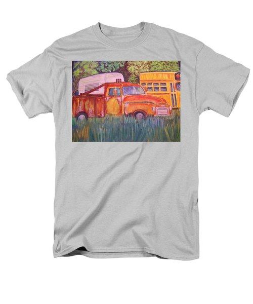 Men's T-Shirt  (Regular Fit) featuring the painting 1954 Gmc Wrecker Truck by Belinda Lawson