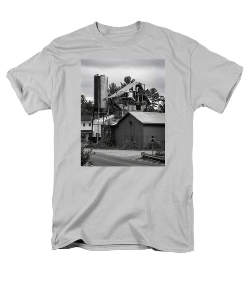 Men's T-Shirt  (Regular Fit) featuring the photograph 1955 Redi-mix Cement Plant by Betty Denise