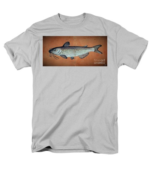 Men's T-Shirt  (Regular Fit) featuring the drawing Catfish by Andrew Drozdowicz