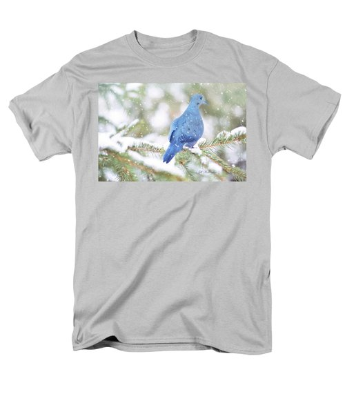 Winter Birds Men's T-Shirt  (Regular Fit) by Jill Wellington