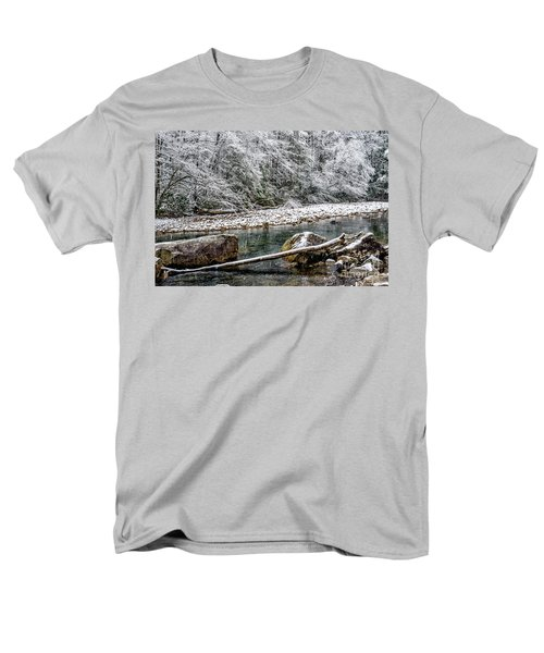 Men's T-Shirt  (Regular Fit) featuring the photograph Winter Along Cranberry River by Thomas R Fletcher