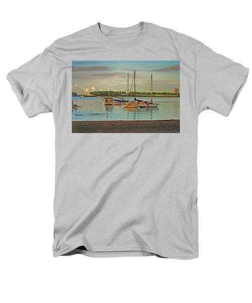 Men's T-Shirt  (Regular Fit) featuring the digital art 3- Anchored Out by Joseph Keane