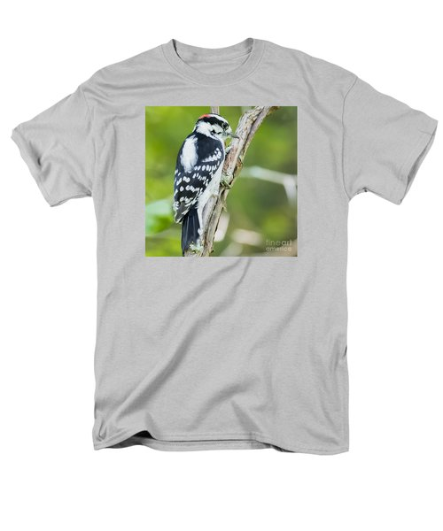 Men's T-Shirt  (Regular Fit) featuring the photograph Downy Woodpecker  by Ricky L Jones