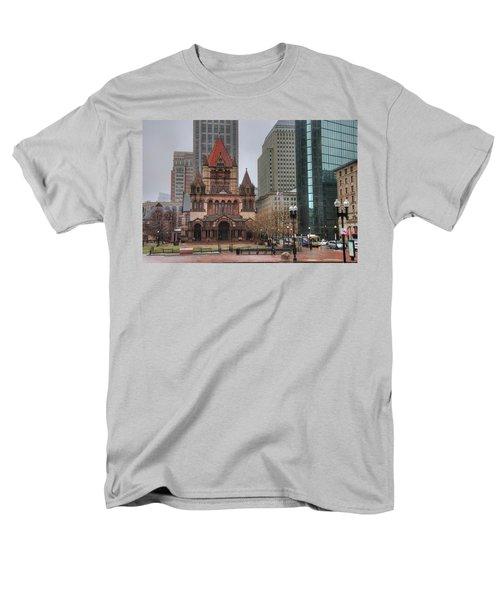 Men's T-Shirt  (Regular Fit) featuring the photograph Trinity Church - Copley Square - Boston by Joann Vitali