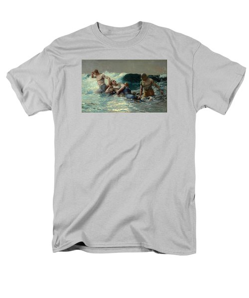 Men's T-Shirt  (Regular Fit) featuring the painting Undertow by Winslow Homer